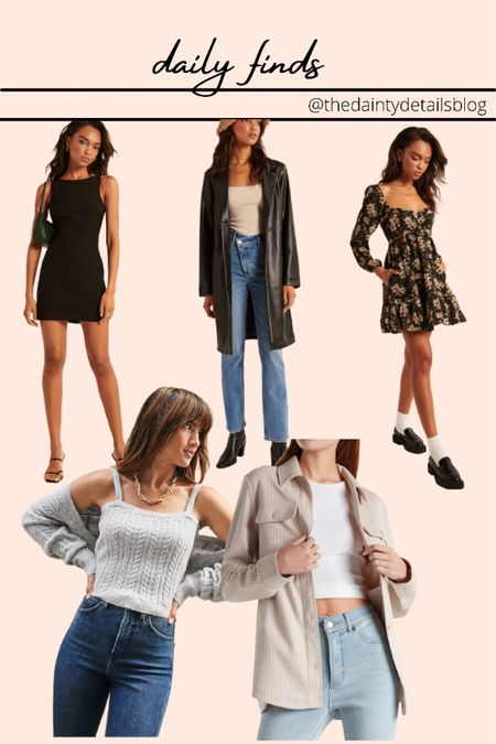 Daily finds: fall dresses, fall outfits, leather jacket, leather blazer, shacket  #LTKstyletip #LTKSeasonal #LTKunder100