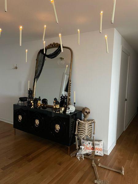 Halloween home decor skeleton happy Halloween Anthropologie mirror spooky home decor  #LTKhome #LTKunder100 #LTKSeasonal