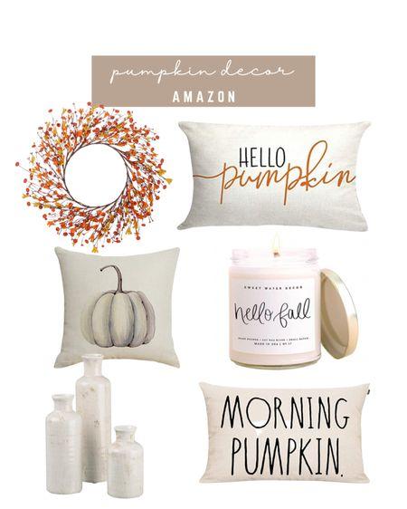 Fall seasonal decor pumpkin pillows   #LTKunder50 #LTKhome #LTKSeasonal