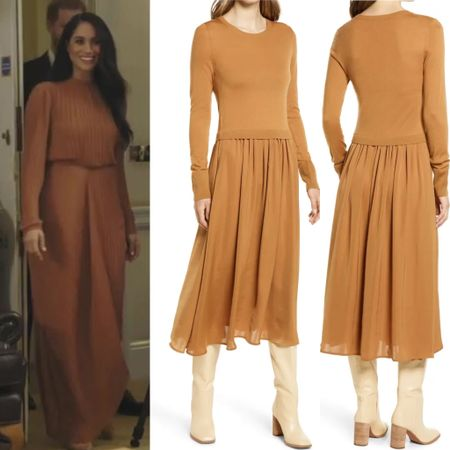 Meghan inspired at the Nordstrom sale #dress #midi #fall   #LTKstyletip