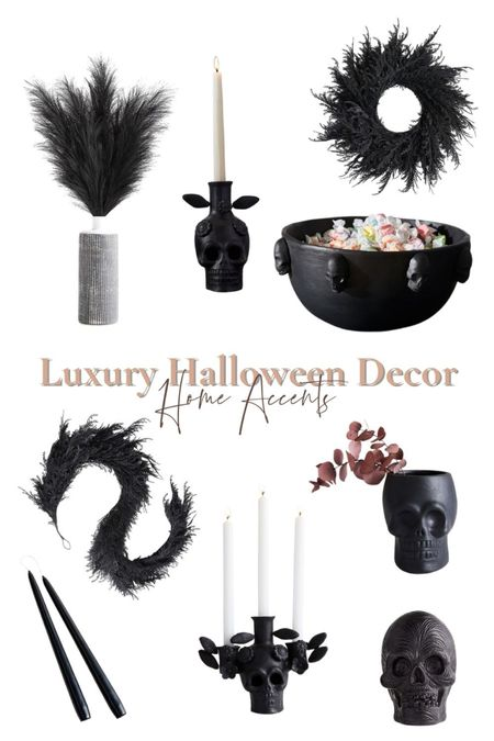 Halloween but make it pretty! These Crate and Barrel + West Elm Halloween finds are simply stunning. They're perfect to decorate your home for the holiday.  | Halloween decor | spooky season | black decor | Halloween decorations | Halloween ideas | home decor | entryway decor | living room decor | crate and barrel | cb2 | pottery barn | west elm | Nordstrom | seasonal decor |     #LTKunder100 #LTKSeasonal #LTKhome