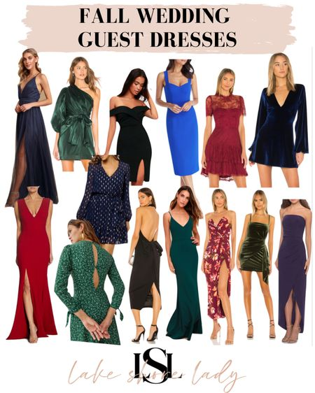 Wedding Guest Dresses for Fall and Winter! Shop more on the blog: https://www.lakeshorelady.com/wedding-guest-dresses-for-fall-winter/    #LTKwedding #LTKSeasonal