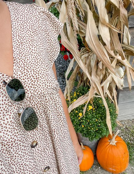 Happy first day of October! I'm so happy to see the fall decorations slowly appearing, and that the weather is still good enough for sun dresses!   #LTKstyletip #LTKunder50 #LTKSeasonal
