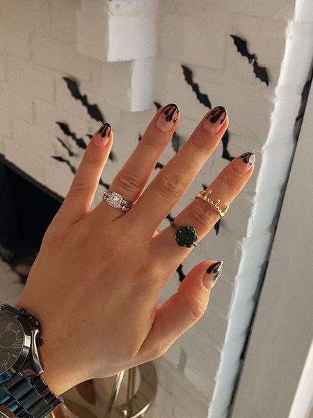 Fall / spooky nail inspo 🕷 Linked rings and watch   #LTKsalealert
