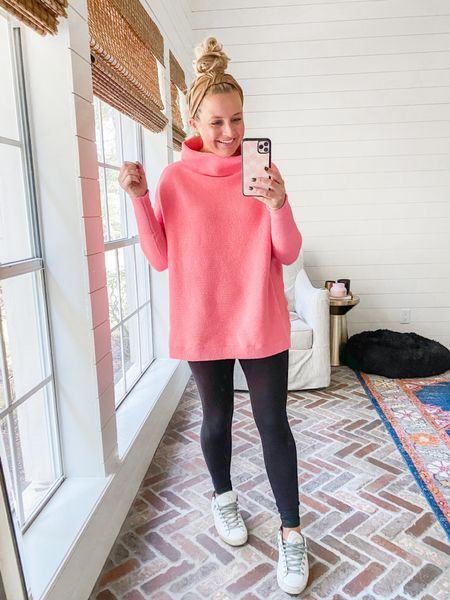 I love this tunic sweater so much! Comes in so many colors! And is tts, I'm wearing xs   #LTKshoecrush #LTKstyletip #LTKSeasonal