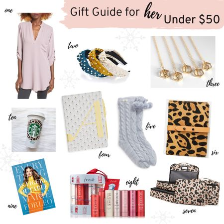 http://liketk.it/2H5EJ First gift guide of the holiday season! Gifts for her under $50....that mom, girlfriend, bff will love 💕  . . Shop my daily looks by following me on the LIKEtoKNOW.it shopping app #liketkit @liketoknow.it  . .  #LTKbeauty #LTKholidaystyle #LTKholidaygiftguide #LTKunder50