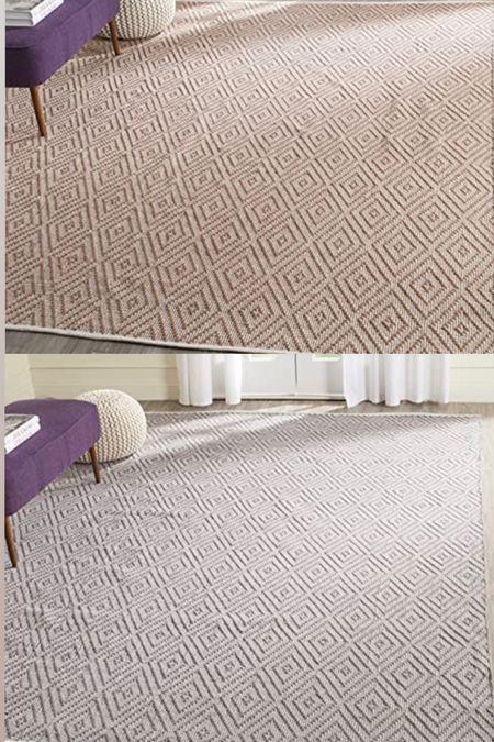Amazon area rugs diamond trellis rug neutral geometric rug diamond sisal Walmart wayfair 8x10 synthetic affordable rug  #LTKfamily #LTKkids #LTKhome