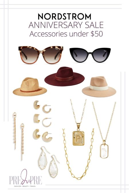 Great finds at the Nordstrom Anniversary Sale. I've rounded up my top picks in accessories under $50.  My NSale 2021 fashion favorites, Nordstrom Anniversary Sale, Nordstrom Anniversary Sale 2021, 2021 Nordstrom Anniversary Sale, NSale,  N Sale, N Sale 2021, 2021 N Sale,  NSale Top Picks,  NSale Beauty,  NSale Fashion Finds,  NSale Finds,  NSale Picks,  NSale 2021,  NSale 2021 preview, #NSale, #NSalefashion, #NSale2021, #2021NSale, #NSaleTopPicks, #NSalesfalloutfits, #NSalebooties,  #NSalesweater, #NSalefalllookbook, #Nsalestyle #Nsalefallfashion, Nordstrom anniversary sale picks, Nordstrom anniversary sale 2021 picks, Nordstrom anniversary Top Picks, Nordstrom anniversary, fall outfits, fall lookbook, fall outfit inspo, what to wear for fall    http://liketk.it/3jNq1                  sunglasses hat fedora earrings dangling earrings initial pendant necklace summer outfit fall outfit great finds  #liketkit @liketoknow.it   Download the LIKEtoKNOW.it shopping app to shop this pic via screenshot  #LTKunder50 #LTKstyletip #LTKunder100