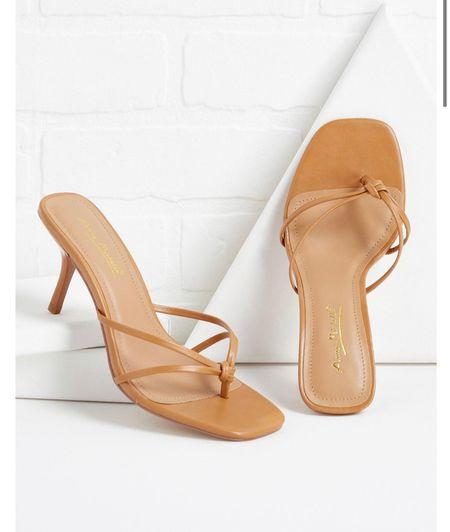 Shop versona Re grand opening Kitten heel sandals Nude sandals