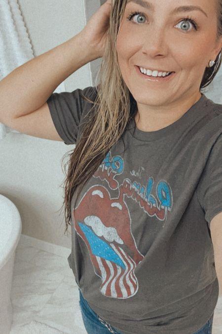 Rolling Stones American flag tee Amazon t-shirt   #LTKstyletip #LTKunder100 #LTKunder50
