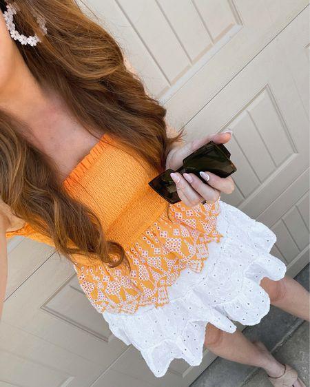 cutest smocked top on sale (wearing xs) @liketoknow.it #liketkit http://liketk.it/3hTT3 #LTKunder50 #LTKsalealert