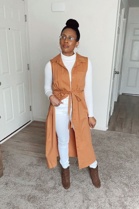 #dress #white #turtleneck #sweater #boots #jeans #denim #heels #falloutfit #neutral #neutraloutfit #neutralcolors   #LTKSeasonal #LTKunder50 #LTKstyletip
