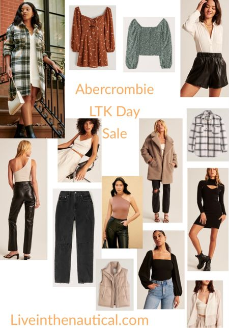 Abercrombie is having 25% off today and tomorrow! Loving their fall line especially this long green shacket!   #LTKDay #LTKsalealert #LTKSale