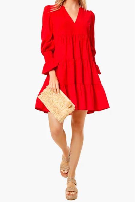 I love a red dress //   #LTKunder50 #LTKSeasonal #LTKsalealert