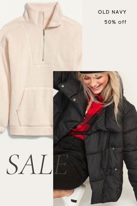 Old navy 50% off today only- quarter zip pullover, puffer jacket, puffer coat, fall, winter   #LTKunder50 #LTKunder100 #LTKsalealert