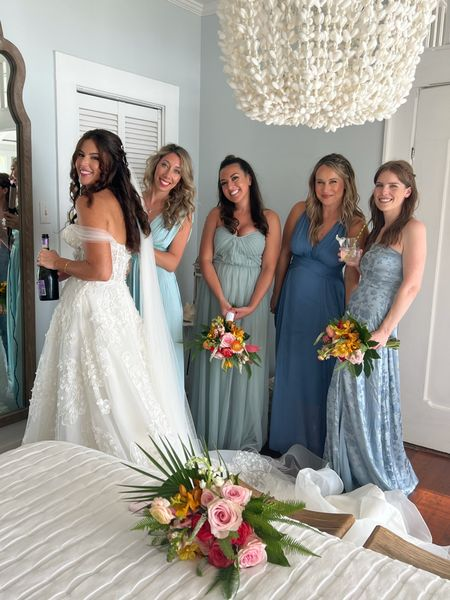 Bridesmaid dresses! Linked our blue dresses and our heels!  #LTKwedding #LTKunder100 #LTKshoecrush