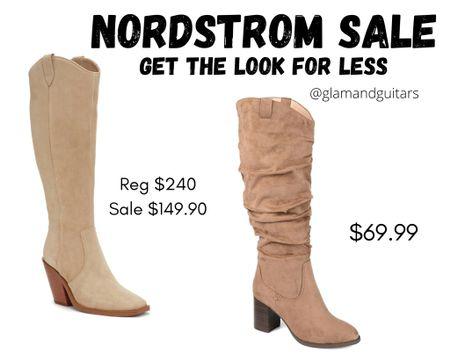 Nordstrom sale: get the look for less! Knee high boots for fall! Both are so cute.   #LTKshoecrush #LTKunder100 #LTKsalealert