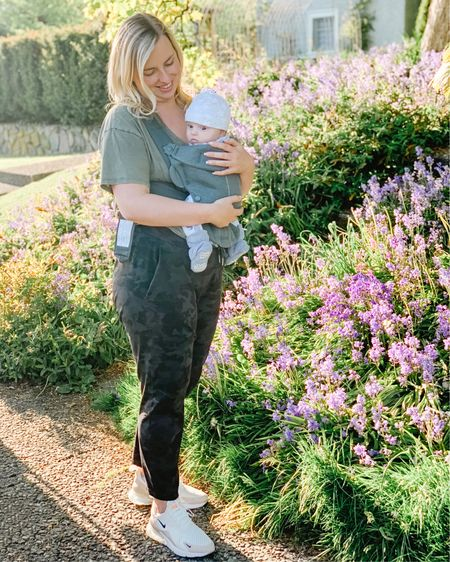 Maternity style. Baby carrier. Casual outfit. T-shirt. Mom style. Shop my daily looks by following me on the LIKEtoKNOW.it shopping app http://liketk.it/3g6wx #liketkit @liketoknow.it #LTKbaby #LTKunder50 #LTKsalealert #ltkseasonal #competition