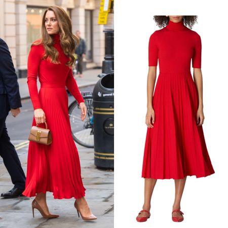 Similar look from Carolina Herrera #dress #holidays #winter #sweater #skirt   #LTKeurope