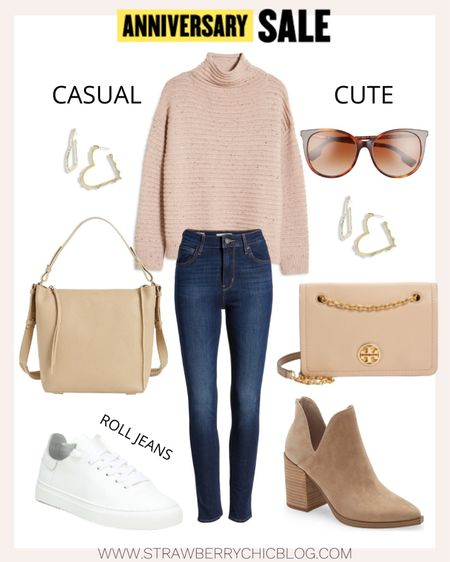 Create two different looks by switching out white sneakers for boots and a dressier crossbody bag.   #LTKSeasonal #LTKstyletip #LTKsalealert