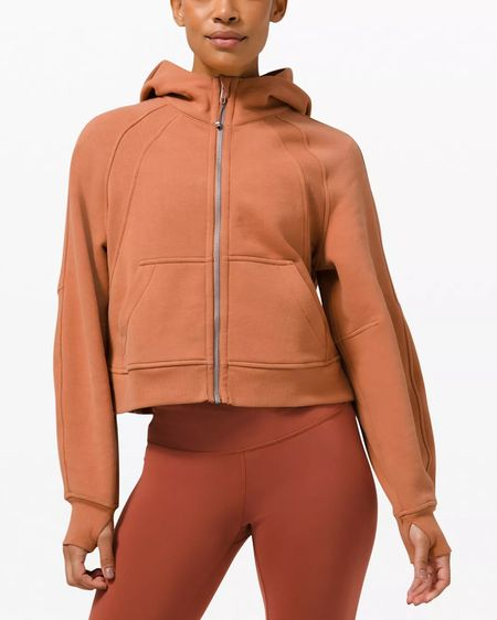 New lululemon Scuba Oversized Full Zip Hoodie in Desert Sun. If you're a lululemon Scuba Oversized 1/2 Zip Hoodie fan, this is a must-have too!   Available in sizes: XS/S (equivalent to 0-6), M/L (8-10) and XL/XXL (10-14)  #LTKstyletip #LTKcurves #LTKfit