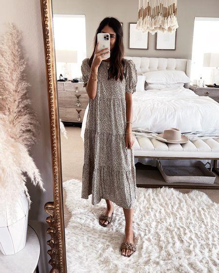 Amazon fashion, wearing size small dress, I'm just shy of 5'7 for reference, amazon dress, summer dress, beach dress, casual date night look, amazon sandals, StylinbyAylin @liketoknow.it #liketkit http://liketk.it/3hULm               #LTKstyletip #LTKunder50 #LTKunder100