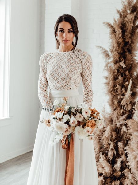 Dreamy white lace bodysuit and tulle skirt for your wedding    #LTKstyletip #LTKwedding