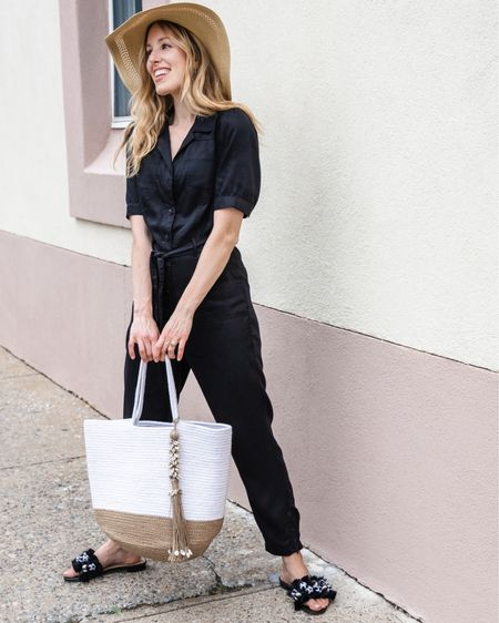 If I'm not going away anywhere fabulous this summer, at least I can dress like I am! 💁🏼♀️☀️  I fell in love with these summer staples from @whbm that will take me from work to weekend, and even if I end up planning last minute travels (the plan is to stay local at the moment!).   This gorgeous puff sleeve jumpsuit is the perfect piece for the season because it's made from Lyocell, which is both sustainable, so breathable, and wrinkle resistant, ready for any occasion. It's also an easy, polished, one-and-done warm weather style. Throw on a summer hat, beachy bag, and fun sandal with it, and bam, I just styled your perfect summer look!   What are your summer plans?  ✨Download the @liketoknow.it shopping app to shop my #whbm look via screenshot of this pic✨ http://liketk.it/3h3Jg  AD   #WHBMstyle #LTKTravel #LTKsummer  #liketkit  #summerinthecity  #LTKstyletip #LTKunder100