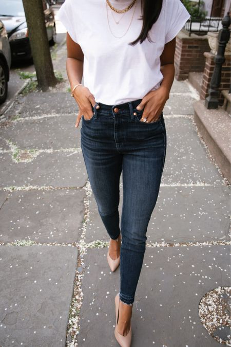No outfit is more classic than a T-shirt and jeans ✨ Tuck in your tee and add a pair of chic heels for an update to the classic. My look (and new favorite jeans) is by @ayr — known for their premium everyday pieces ✨Shop your screenshot of this pic with the LIKEtoKNOW.it shopping app or head to my stories for the link! http://liketk.it/3dDX0 http://liketk.it/3dDXb #liketkit @liketoknow.it #LTKstyletip