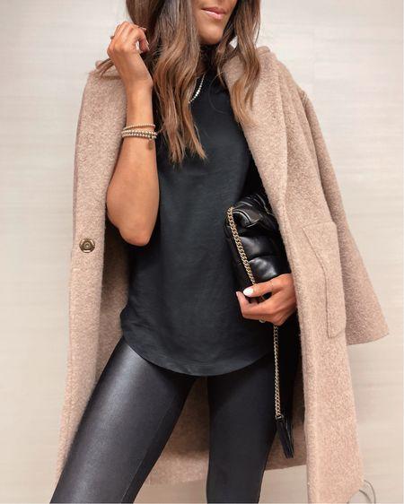 Fall fashion, fall style, spanx, coat, StylinbyAylin   #LTKSeasonal #LTKunder100 #LTKstyletip