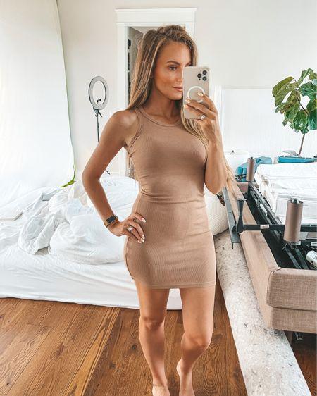 Amazon find: tank dress on sale for under $20. Wearing size: Small 🤍 @liketoknow.it #liketkit #LTKsalealert http://liketk.it/3inCV