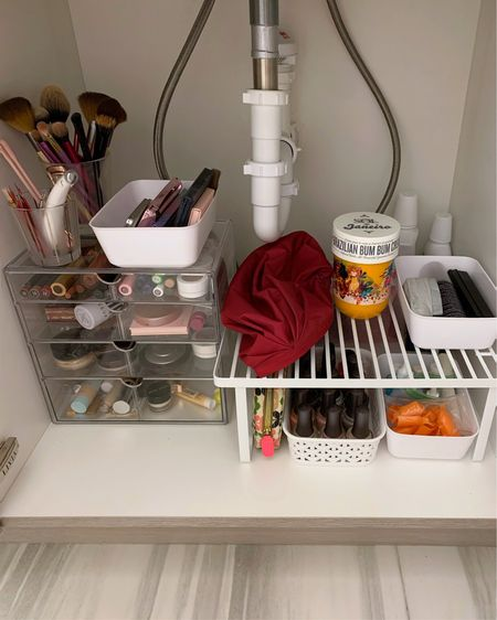 Bathroom organization 💄 I got my makeup and nail polish organized under the sink with some acrylic drawers and storage from Target. Shop it now @liketoknow.it @liketoknow.it.home #liketkit #LTKbeauty #makeupstorage #organizing http://liketk.it/3a80a