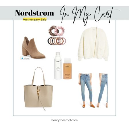 #nsale Nordstrom Anniversary sale.  Dog Mom's gotta look cute on her walks! Outfit ideas for fall. Neutral outfit.   Rebecca Minkoff, Steve Madden, Ouai, Slip. Sale items are each under 100$!   #LTKstyletip #LTKbeauty #LTKunder100