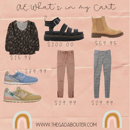 Found some cute things online at American Eagle this morning! Pants/jeans are on sale for $29.99!!!   Love new finds and a good pair of cute shoes!   Which is your favorite?     #LTKsalealert #LTKunder100 #LTKbacktoschool