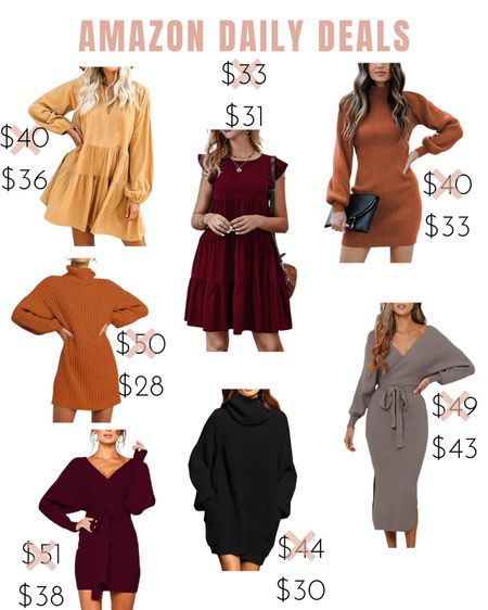 Amazon Daily Deals - Fall Dresses  #LTKsalealert #LTKSeasonal #LTKunder50