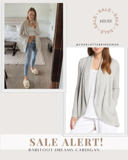 Nordstrom anniversary sale barefoot dreams cardigans are still in stock! They fit TTS (wearing a small)  #LTKsalealert #LTKunder100