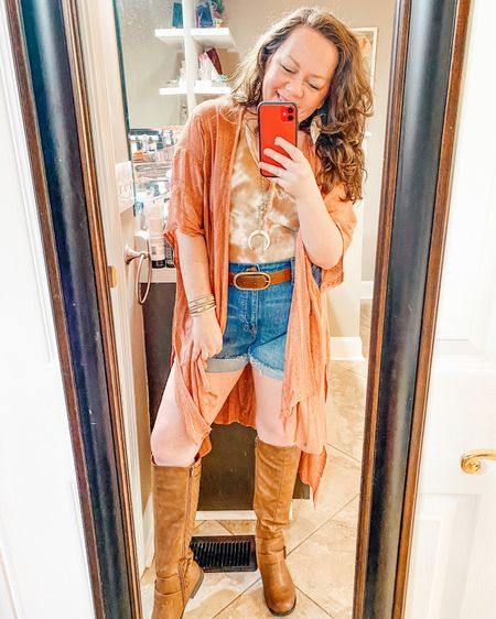 Shorts with boots spring outfit   Shop my daily looks by following me on the LIKEtoKNOW.it shopping app @liketoknow.it http://liketk.it/3eIhG #liketkit #LTKcurves #LTKstyletip #LTKunder50