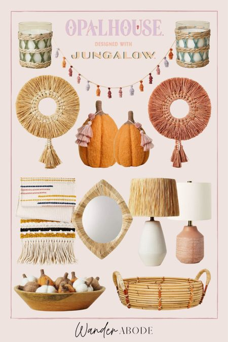 New boho home decor & fall decor from the Opalhouse designed with Jungalow collection  #LTKunder50 #LTKSeasonal #LTKhome