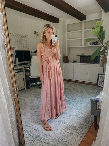 Bump + nursing friendly dress  Wear it with the tassel belt or without!   Gorgeous for every day or pictures!
