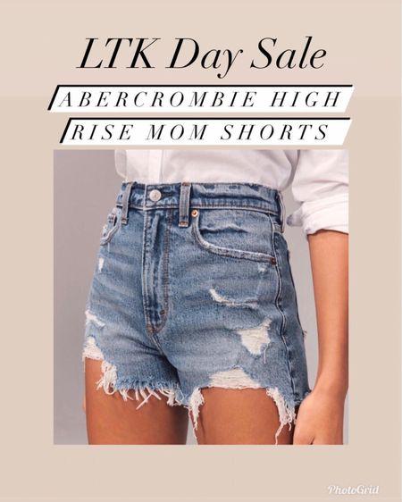 Abercrombie and Fitch high rise mom shorts 20% off    #LTKsalealert #LTKunder100 #liketkit @liketoknow.it http://liketk.it/3htJF #LTKday   Abercrombie and Fitch  Spring style  Summer style  Vacation style  Jean shorts  Mom shorts
