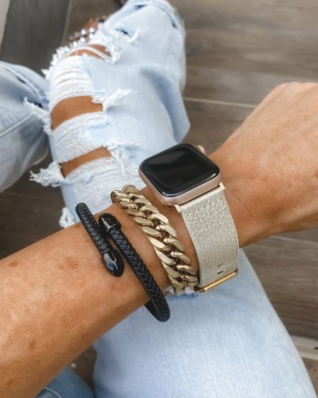 Victoria emerson bracelet  Sharing a few of my newest pieces  Chunky and dainty bracelets   This Apple Watch band is stunning  They make the most beautiful bracelets   I love to stack and mix and match my pieces !!#LTKbacktoschool   #LTKstyletip #LTKunder50
