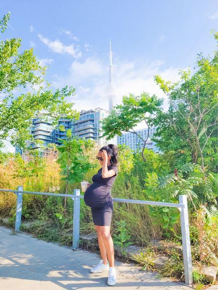 The best black maternity dress #maternity #blackdress   #LTKsalealert #LTKbump #LTKbaby