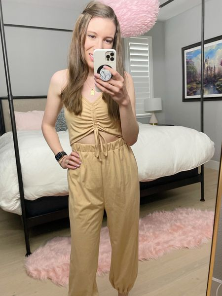 """Been on the lookout for a modest yet trendy neutral jumpsuit and finally found one! 👏🏼 Wearing size S. (5'4"""")  #LTKstyletip #LTKunder50 #LTKunder100"""