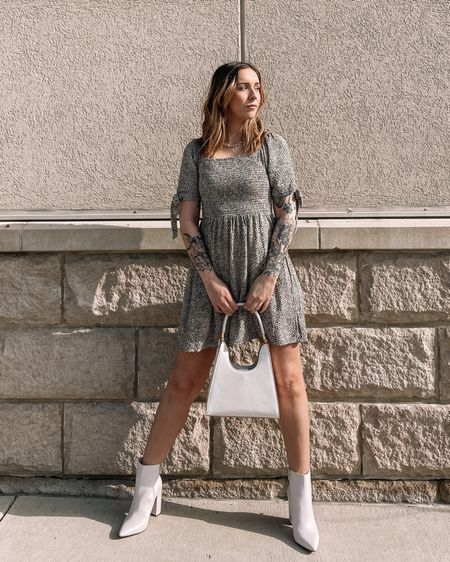 Dress is a size small! Paired with off white cream booties and satchel purse with gold jewelry. http://liketk.it/398ks #liketkit @liketoknow.it #LTKunder50 #LTKunder100 #LTKstyletip