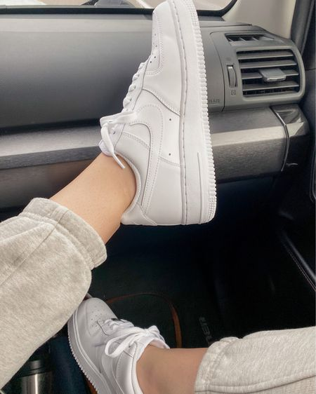 Fave tennis shoes at the moment http://liketk.it/3byhq #liketkit @liketoknow.it #LTKshoecrush #LTKstyletip #LTKunder100 #sweatpants #airforceone