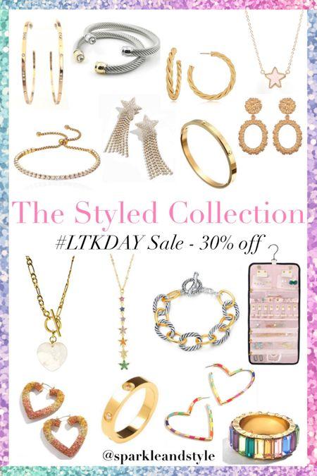LTK Day Sale: The Styled Collection - 30% off sitewide    http://liketk.it/3hqBO @liketoknow.it #liketkit #LTKDay #LTKsalealert #LTKunder50   Summer jewelry, summer accessories, necklaces, earrings, bracelets,  rings, statement earrings