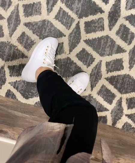 Love these platform sneakers that are part of the Nsale! Run big so I sized down 1/2 size  #LTKshoecrush #LTKsalealert