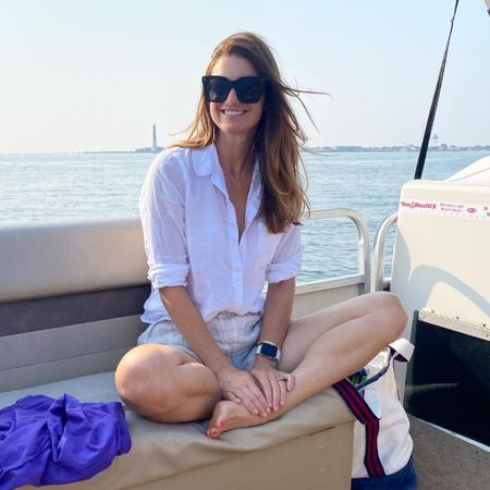 Boat outfit, white button down, casual style, linen, lake outfit, yacht,   #LTKstyletip #LTKtravel
