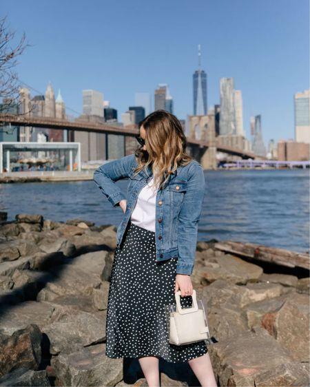 Silk slip skirt and denim jacket @liketoknow.it http://liketk.it/3gXMO #liketkit