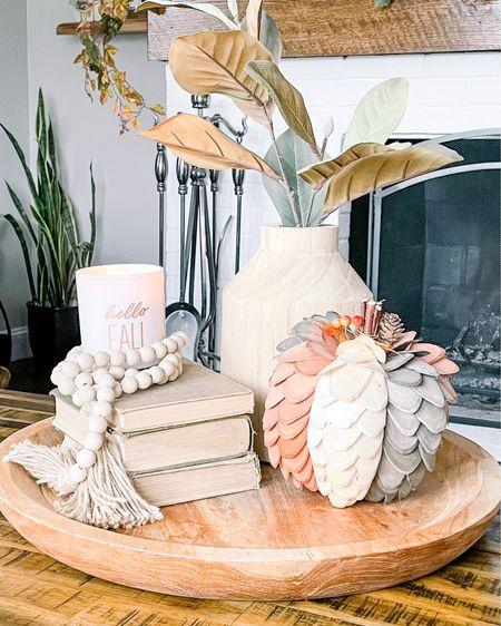 Fall decor, living room decor, coffee table decor, Target finds  #LTKunder50 #LTKSeasonal #LTKhome